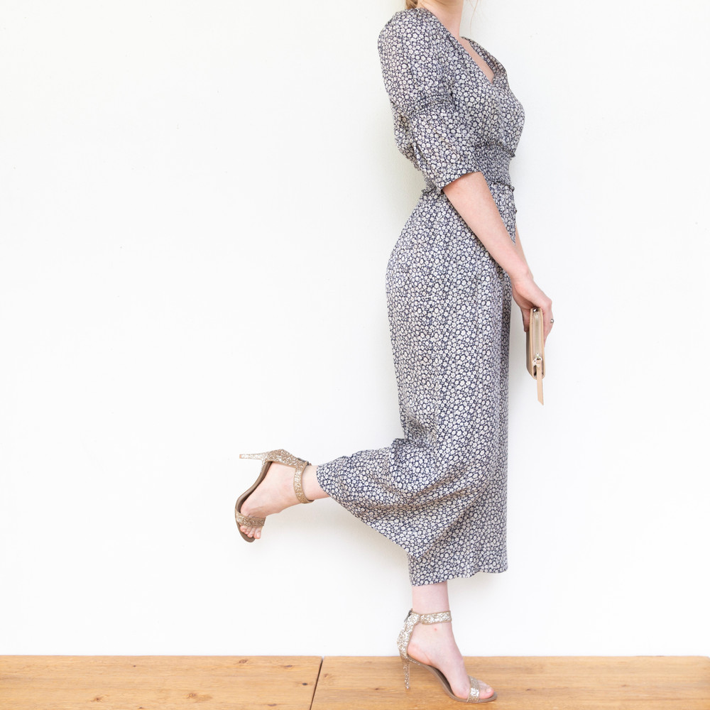 L/S Lauren Floral Jumpsuit