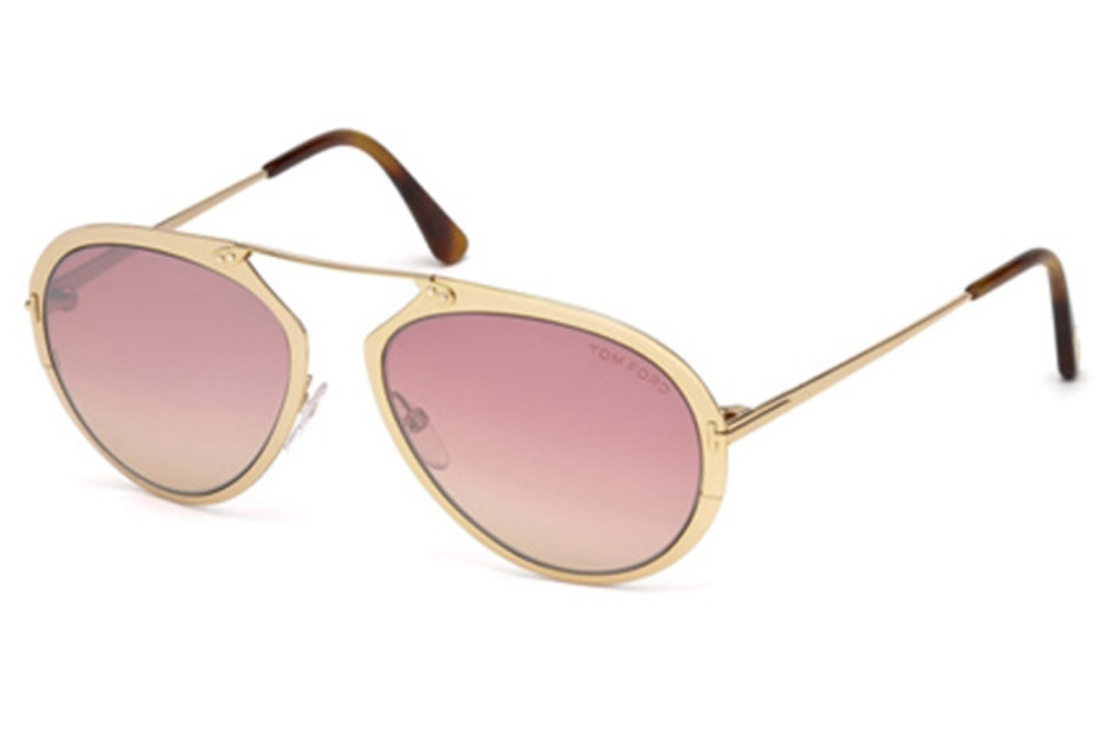 A modern take on the classic aviator. The metal frame sits comfortable on the face, giving an oversized look and the rose gold lens is an added pop of glamour.
