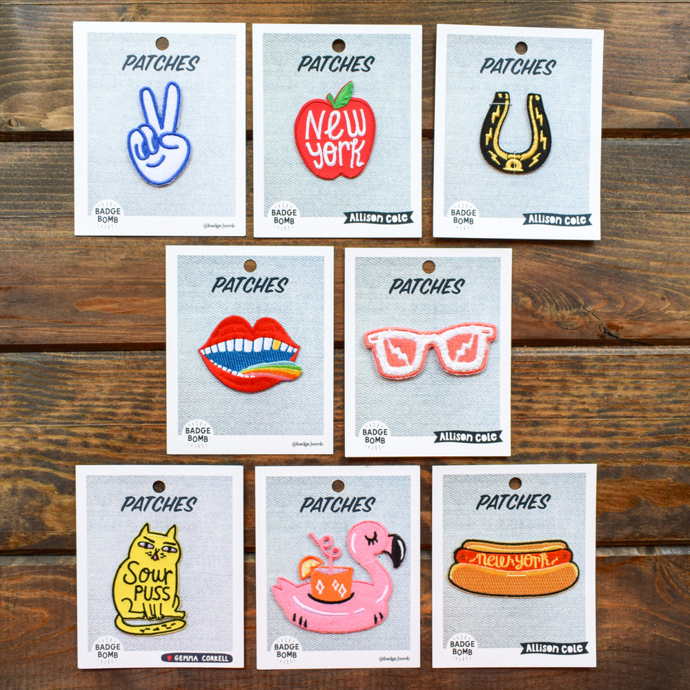 The best way to make all your items unique! These iron-on patches are great for jackets, bags, even shirts! Simply pick your item, pick your patch and iron on!
