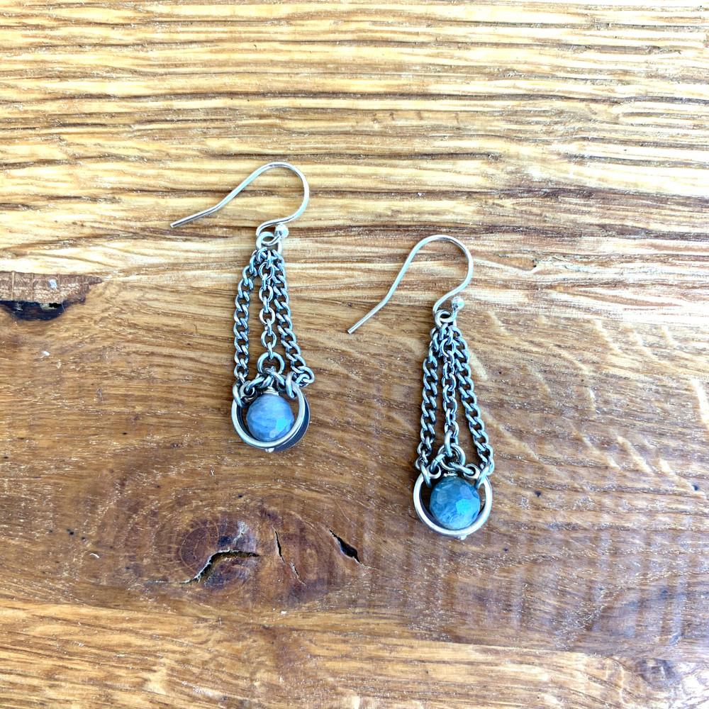 Denim Sapphire Mini Chandelier Earring