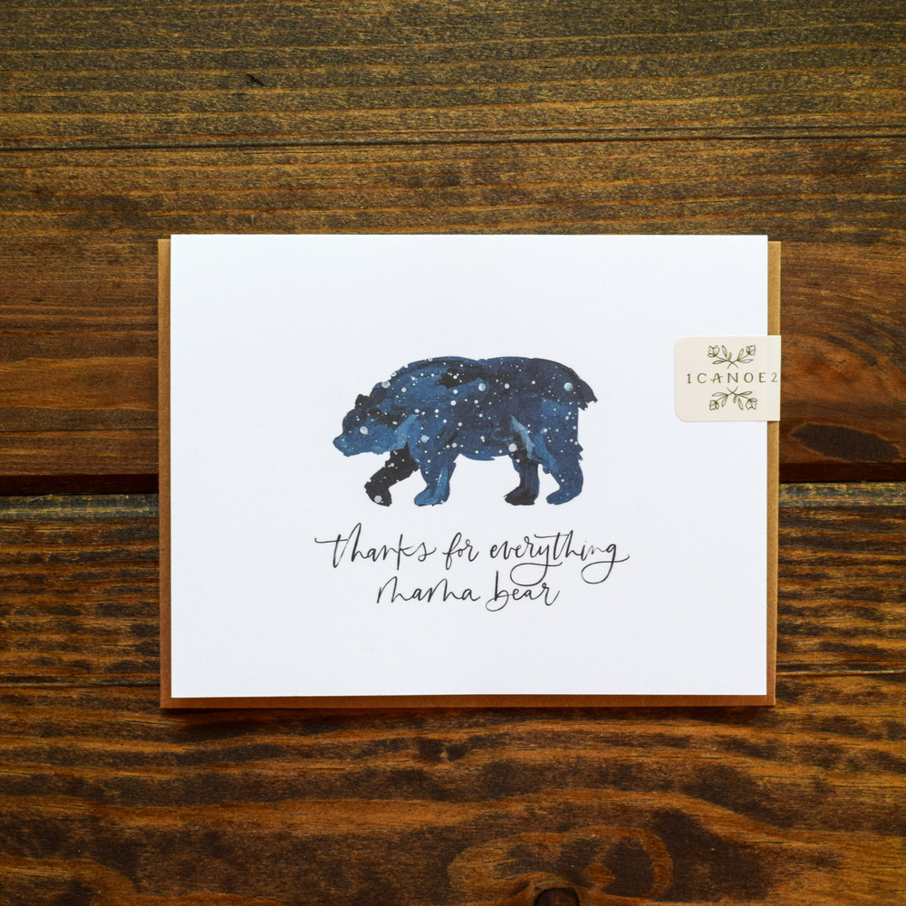 """A simple and meaningful card for the one who raised you. This card is made in the USA, blank inside, and is accompanied by a kraft envelope.  Size: 4.25"""" x 5.5""""  Interior: Blank"""