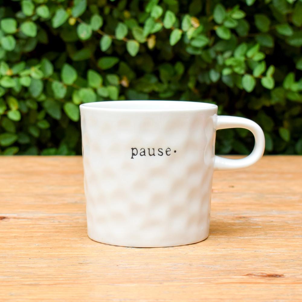 Stoneware Pause Mug