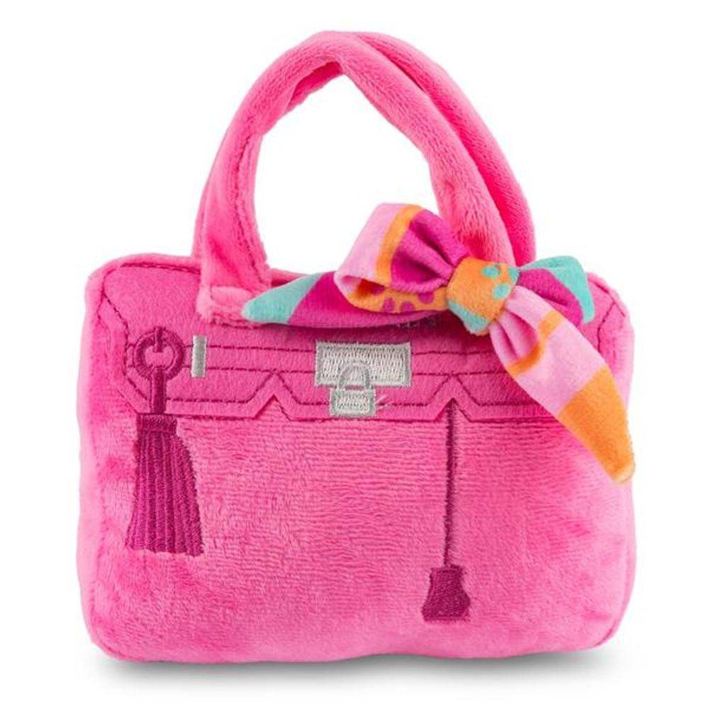 Pink Barkin Bag w. Scarf - Rich B*tch
