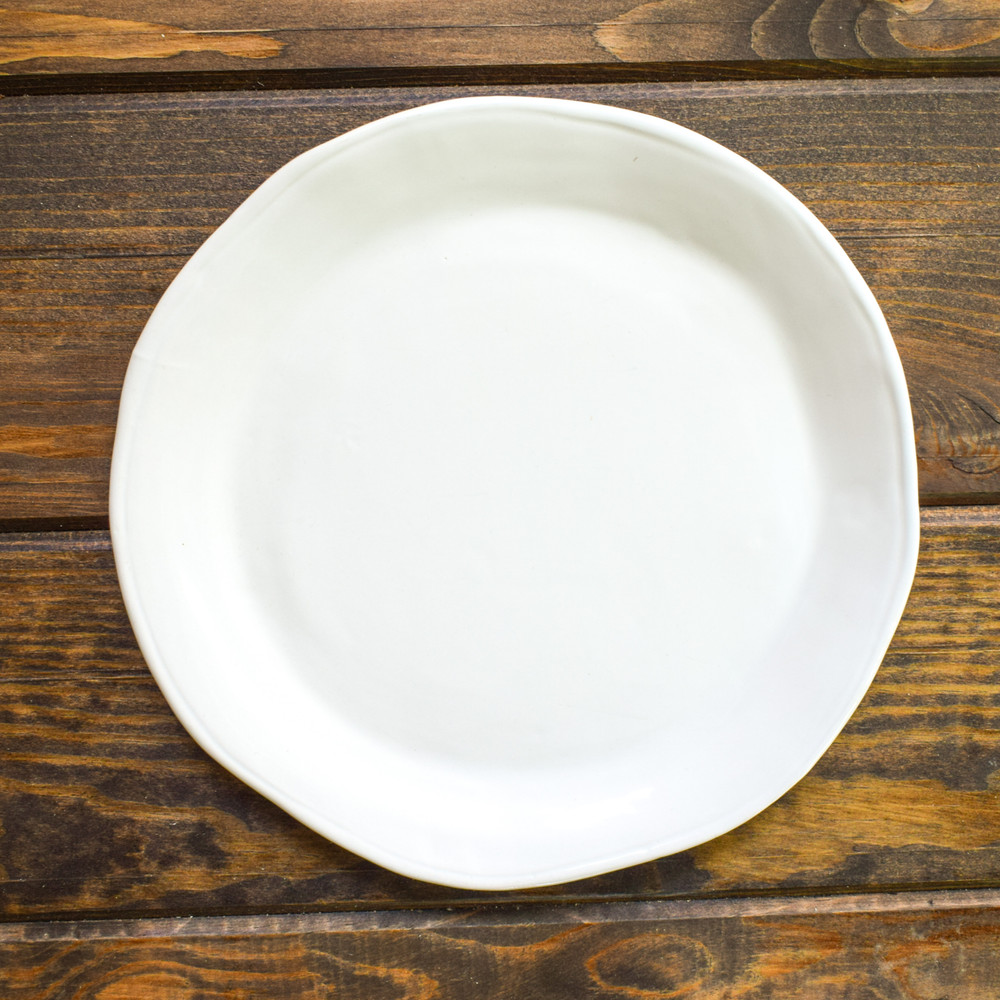 "This salad plate is perfect for so many things you'll find yourself pulling it from the dishwasher to use it first! Elevate your place settings with this 9"" plate, use it as a serving piece for your favorite sides, entrees, or tapas."