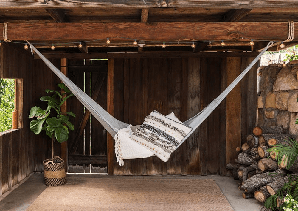 These meticulously handwoven hammocks offer the perfect place to relax and enjoy your surroundings. Made with super soft yarn you can lay for hours and never have the dreaded 'waffle imprints'. The free-flowing weaves are designed for maximum comfort, allow for breezes and perfectly expand for sharing.     Sold in canvas bag for convenient storage and carrying. Does not include hanging hardware, hammock straps, or sand.   Capacity: 400 lbs  Dimensions: 10'l X 6'w  Weight: 1.7lbs