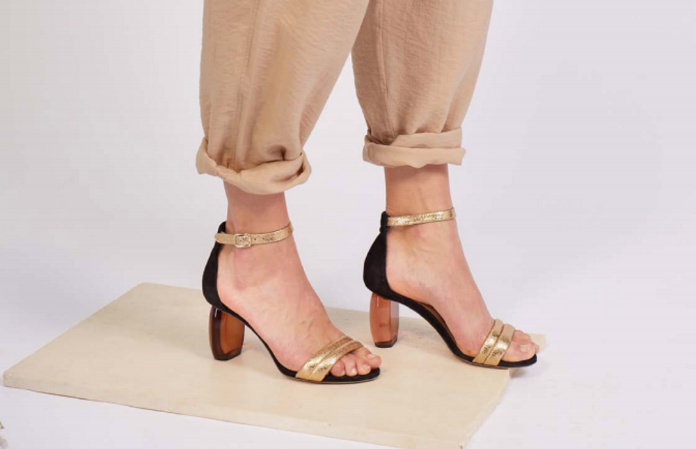 Sustainably made with recycled leather these resin heel pump will have you looking your best for any occasion! The perfect amount of heel with just the right amount of glamour, these pumps can take you from errands to date night.