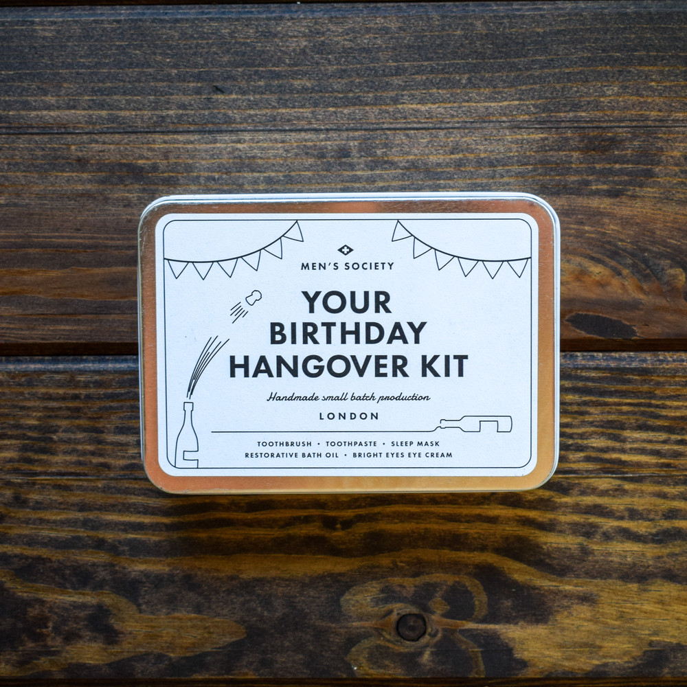 The perfect birthday gift for those who really love to celebrate! This hangover kit will give them everything they need the morning after, giving them nothing to worry about the night before!