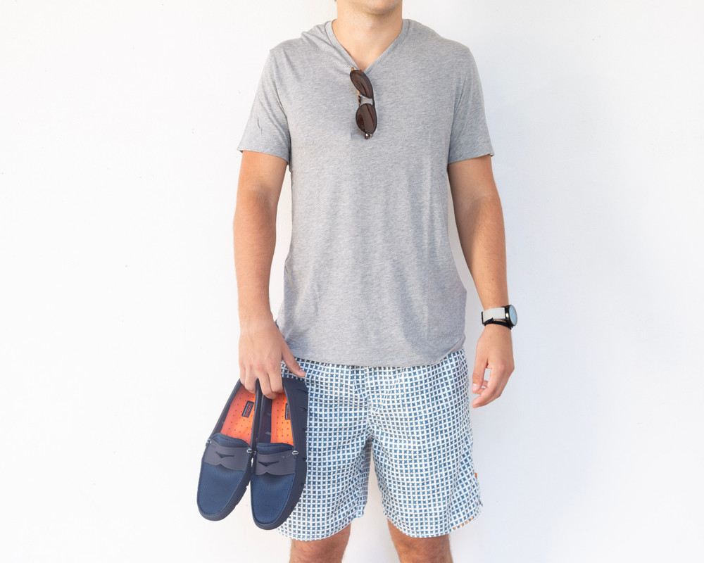 A boat shoe never looked so good! Swims began with an idea to reimagine the rubber galosh and has created a new classic. The Penny Loafer can take you from boat, to bar, to dinner! It has the form and function of a water shoe but the attractiveness of a modern loafer.