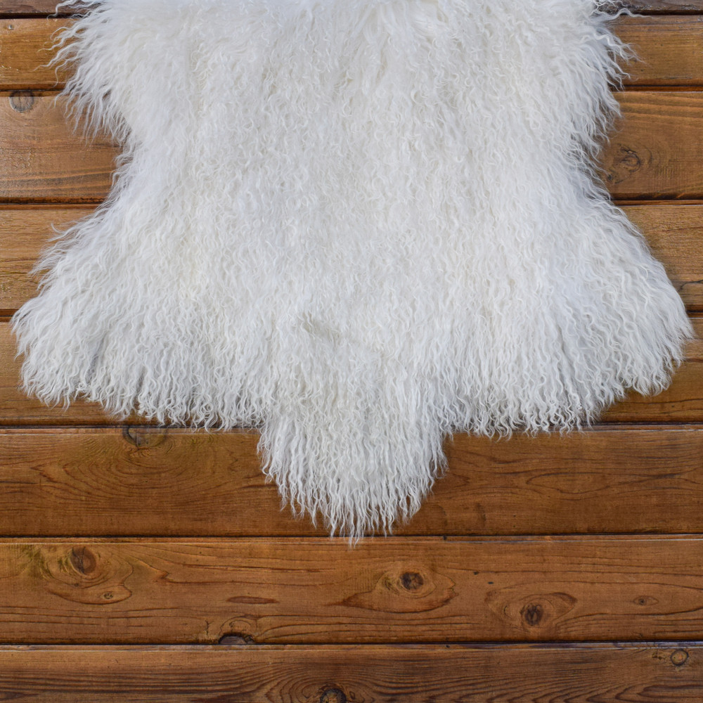 Mongolian Lamb Fur - White