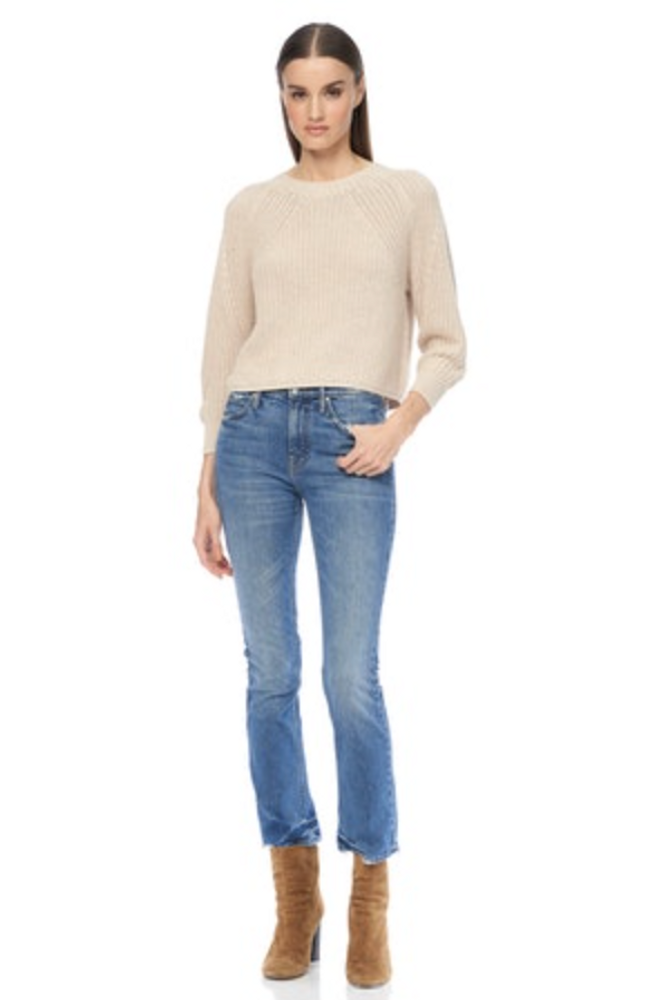 Meet Evelyn - your favorite cotton sweater of the season. The ultra soft organic cotton is just the beginning of all the great things she has to offer, the crop is slightly higher  to meet your jeans perfectly without excess length. The collar is an exaggerated crew and the arms offer a gathered cuff - easily push up for a 3/4 look.   Details:  100% Organic Cotton