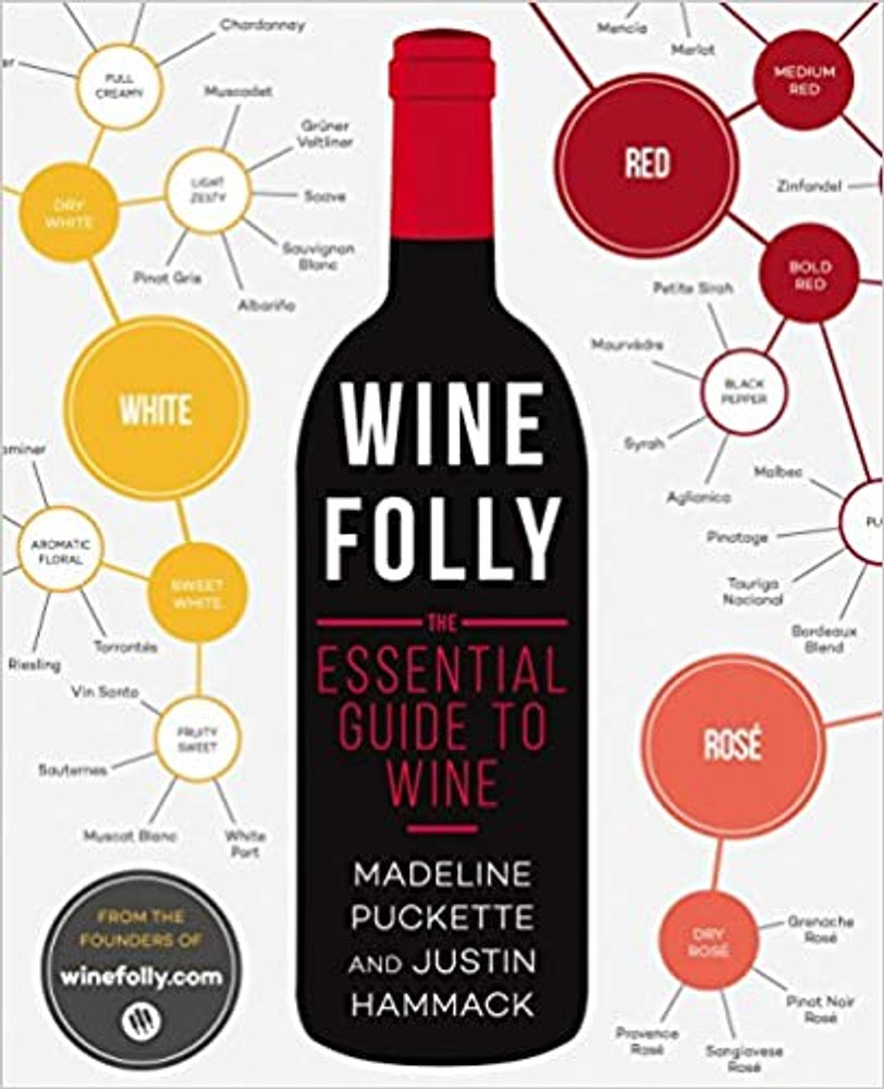 """The best introductory book on wine to come along in years"""" ( The Washington Post ) from the creators of the award-winning winefolly.com Red or white? Cabernet or merlot? Light or bold? What to pair with food? Drinking great wine isn't hard, but finding great wine does require a deeper understanding of the fundamentals. Wine Folly: The Essential Guide to Wine will help you make sense of it all in a unique infographic wine book. Designed by the creators of WineFolly.com, which has won Wine Blogger of the Year from the International Wine & Spirits Competition, this book combines sleek, modern information design with data visualization and gives readers pragmatic answers to all their wine questions, including: - Detailed taste profiles of popular and under-the-radar wines. - A guide to pairing food and wine. - A wine-region section with detailed maps. - Practical tips and tricks for serving wine. - Methods for tasting wine and identifying flavors. Packed with information and encouragement, Wine Folly: The Essential Guide to Wine will empower your decision-making with practical knowledge and give you confidence at the table."""