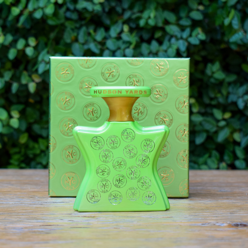 Bond No. 9 strives to create memorable fragrances that reflect and honor their homage of New York City. Each scent is carefully crafted with the highest ingredients creating interesting and lasting fragrances. A truly unique perfume that can be worn alone or layered together to create your own signature scent. They are beautifully presented in their signature bottles creating a perfume you'll want to keep on the vanity and wear every day.     The fresh, dewy scent of Hudson Yards celebrates spring and new beginnings with its bright floral notes.  Notes: Top: freesia, lily of the valley, pepper. Middle: peony, Bulgarian rose, lychee. Base: iris, orange blossom, musk.