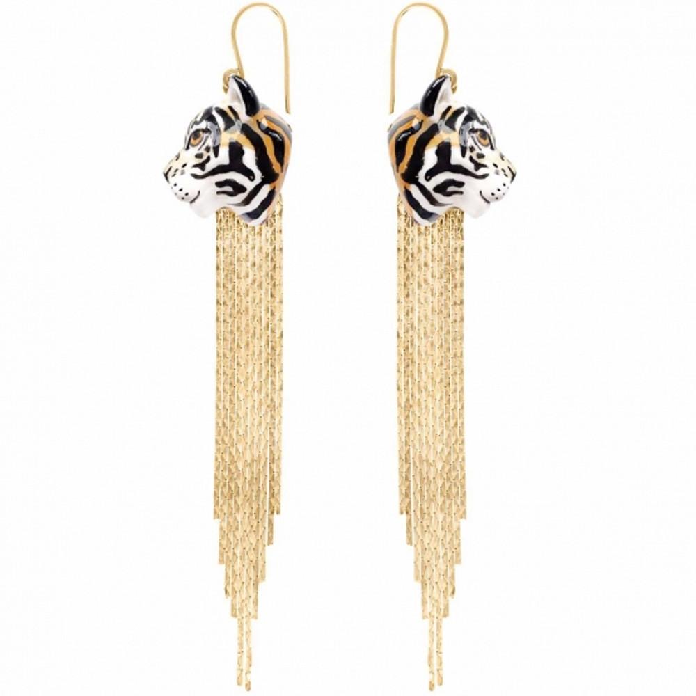 Tiger Fringe Earrings