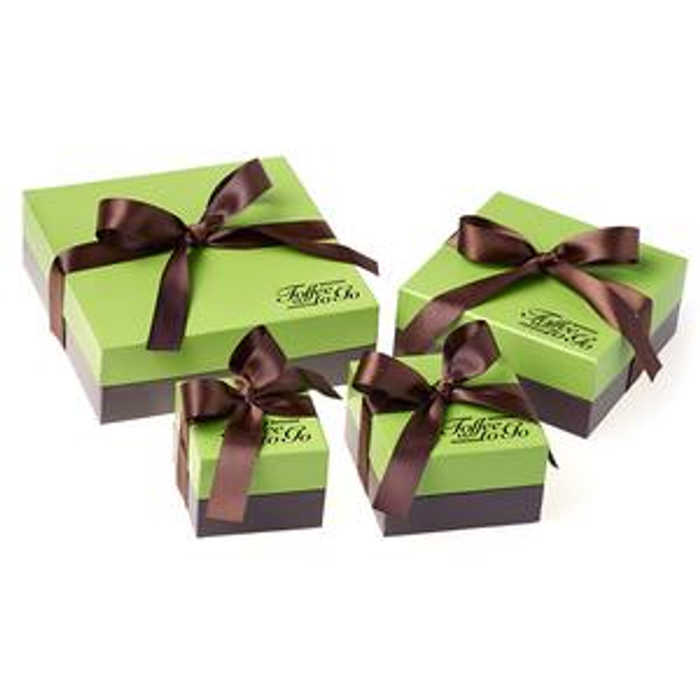 Toffee To Go offers a classic toffee upgraded with high quality dark chocolate and salted pecans that give you an irresistible savory sweet, leaving everyone wanting more. Packaged in a classic gift box.