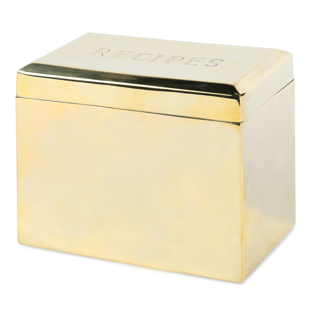 Brass Recipe Box