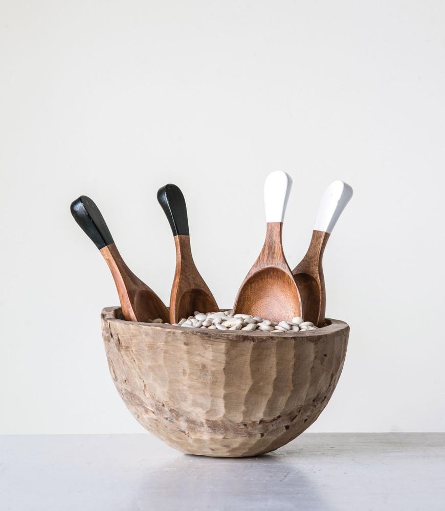 Hand-Carved Wood Salad Servers