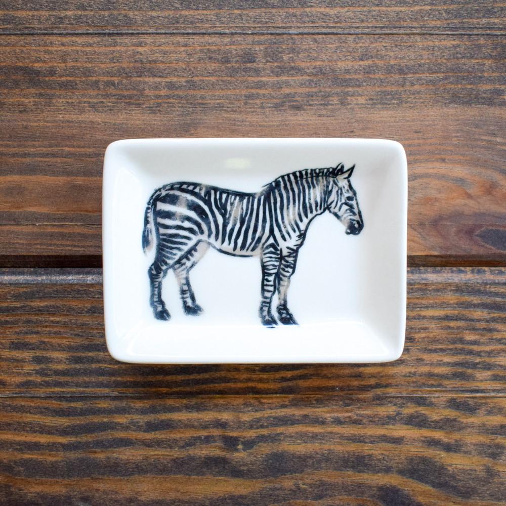 Black & White Stoneware Dish