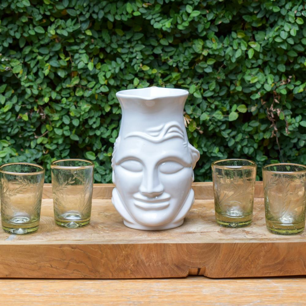 El Sabio Pitcher - White Ceramic