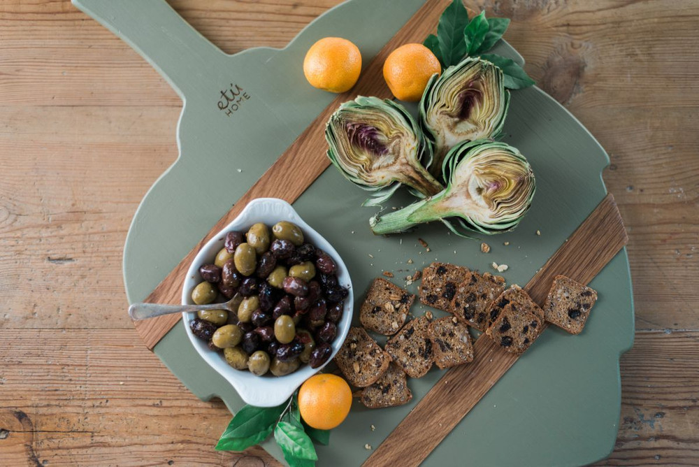 The Artichoke Charcuterie Board is the perfect piece for every kitchen. The Artichoke symbolizes hope, peace, and prosperity and makes for the perfect serving shape also a great decorative board for the kitchen!