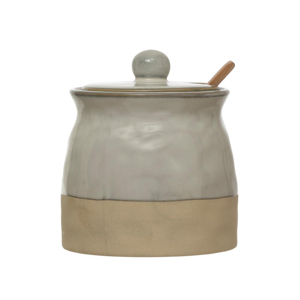 Sugar Pot w. Lid & Spoon