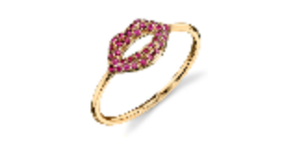 Pave Lips Ring - 6.5