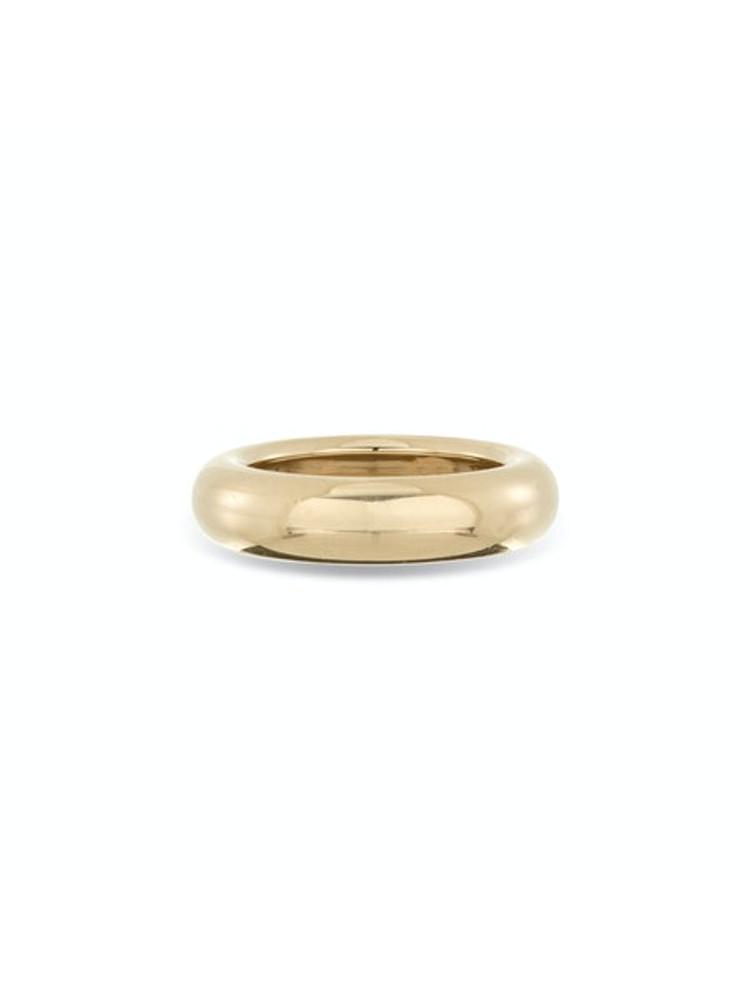 Chunky Tube Band Ring - Yellow Gold - 7