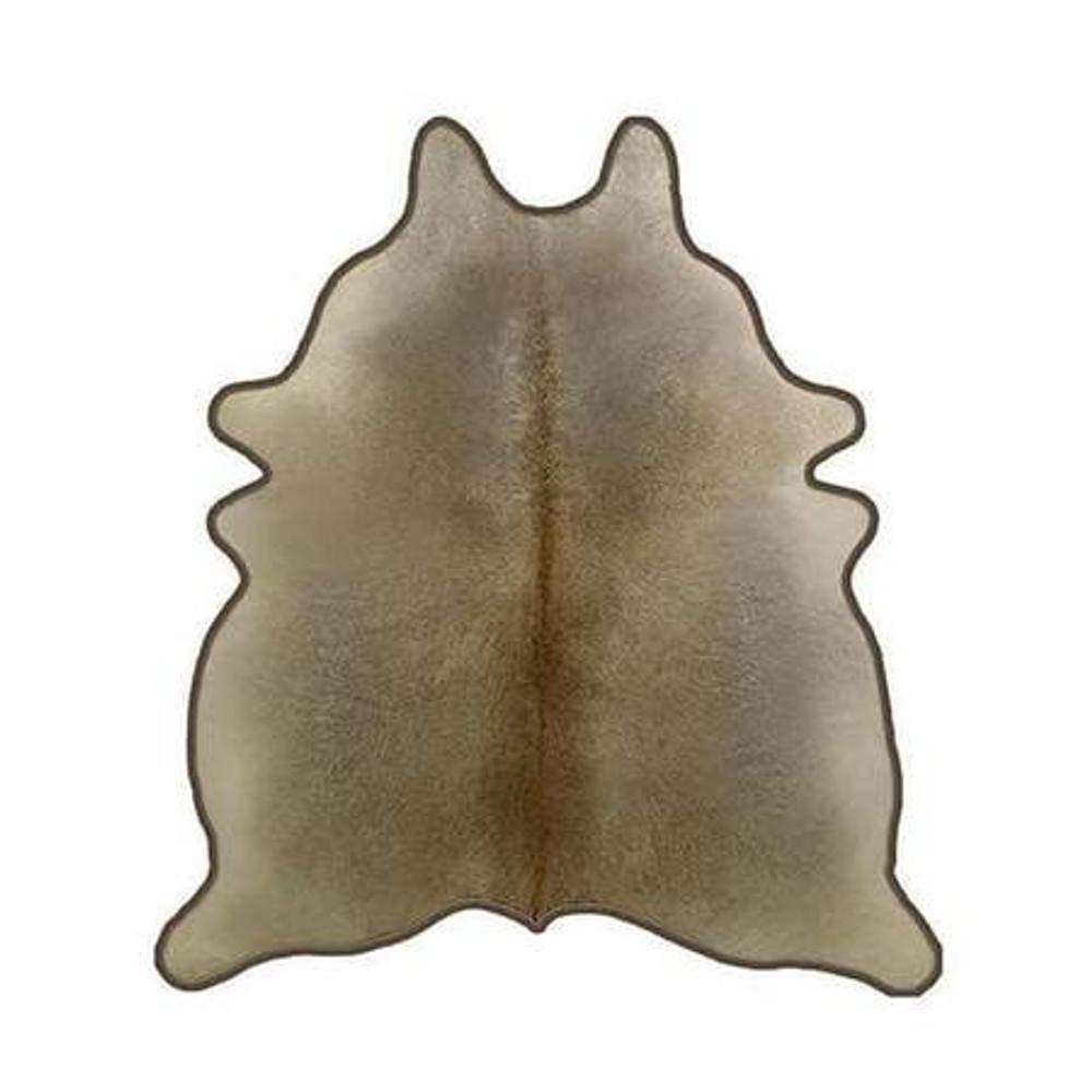 Cowhide Rug w. Leather Trim