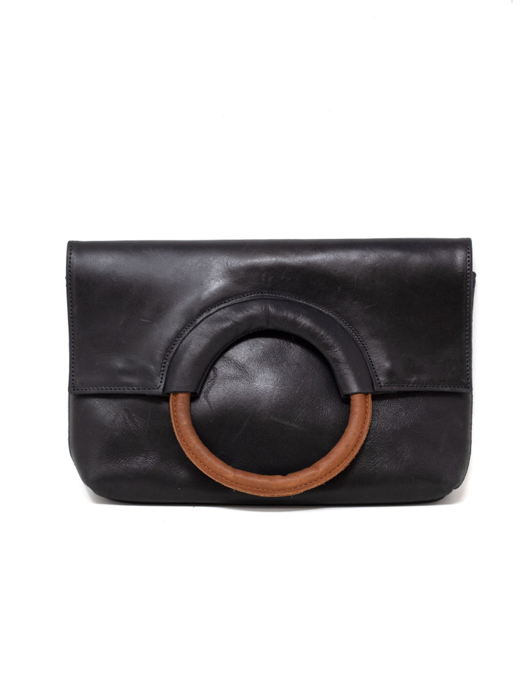 Fozi Ring Crossbody - Black/Whiskey