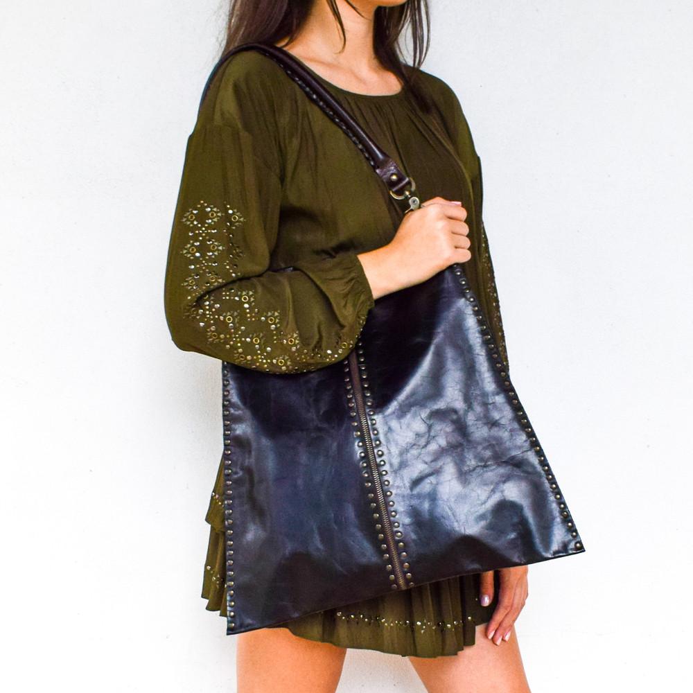 Black Zipper Bag