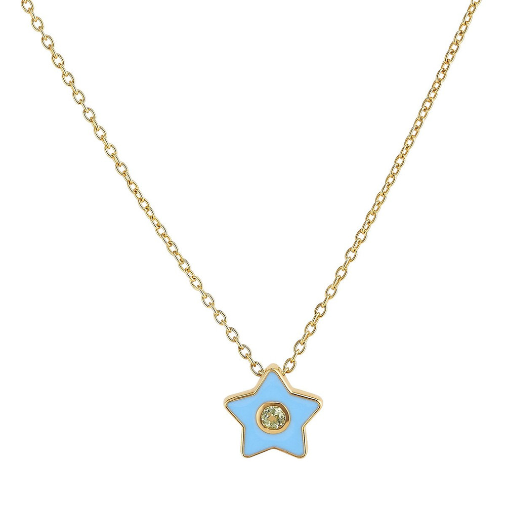 "The sweetest piece for a little ASHA lover, or for yourself! This enamel necklace can be work at 15"" or 16"" and will be the best addition to anyone's collection."