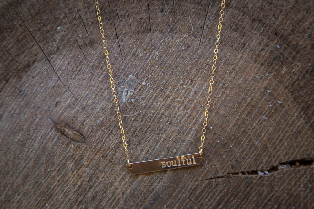 Soulful Stamped Necklace