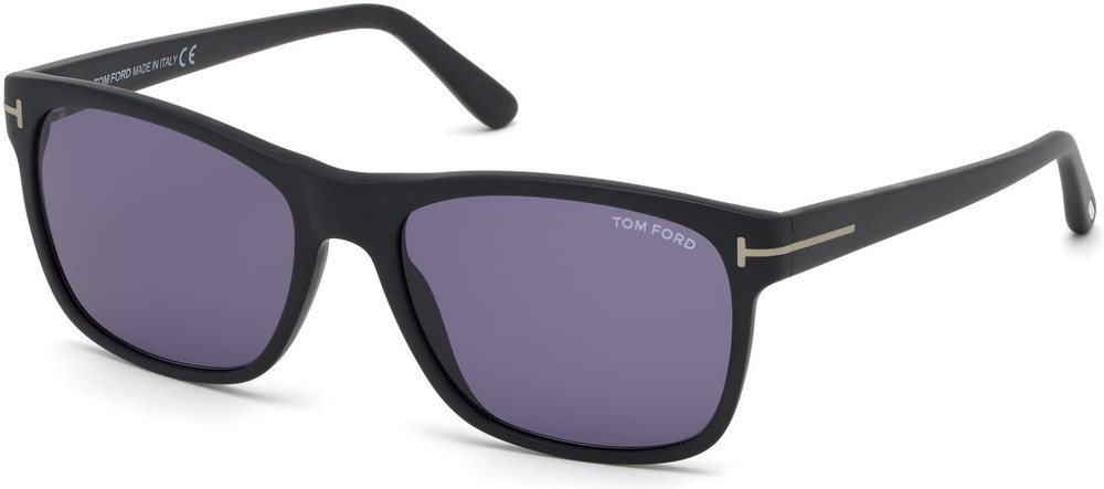 Tom Ford - Giulio Sunglasses - Matte Black/Blue Smoke Lenses