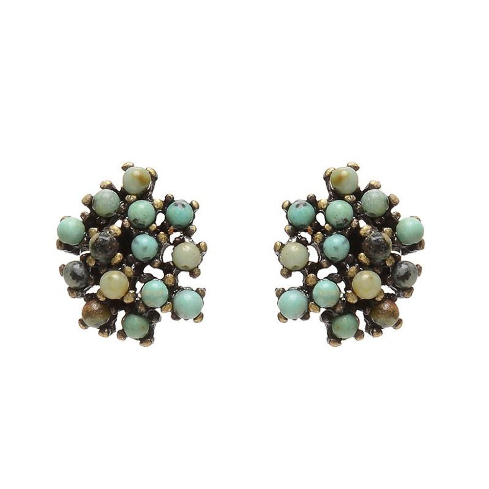 Coral Earrings - African Turquoise