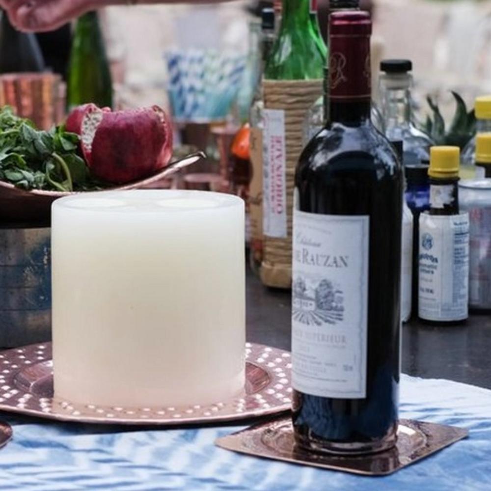 Wine Bottle Coaster - Napa - Square