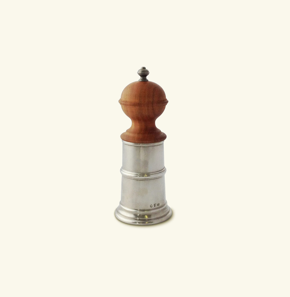 Wood & Pewter Pepper Mill