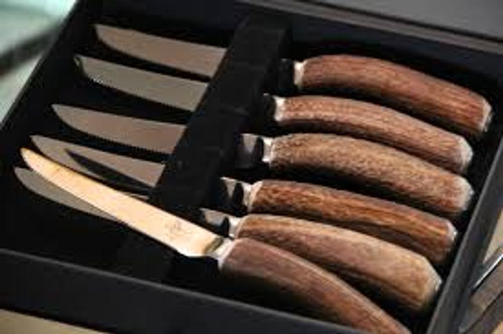 Antler Rustic Steak Knives - Set of 6