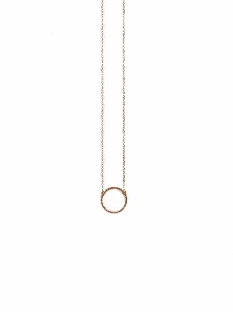 Floating Shape Necklace - Circle