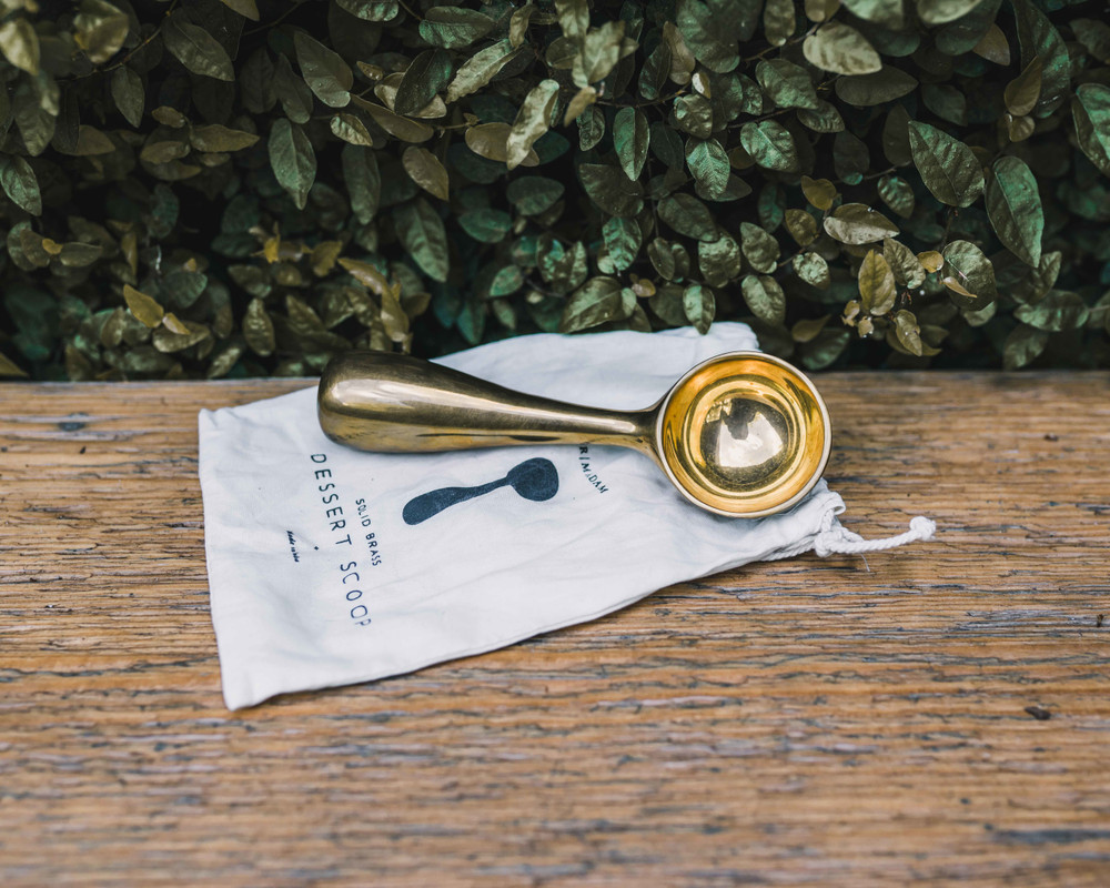 Brass Dessert Scoop
