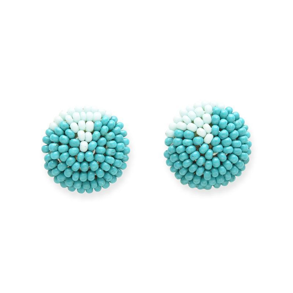 Seed Bead Button Post
