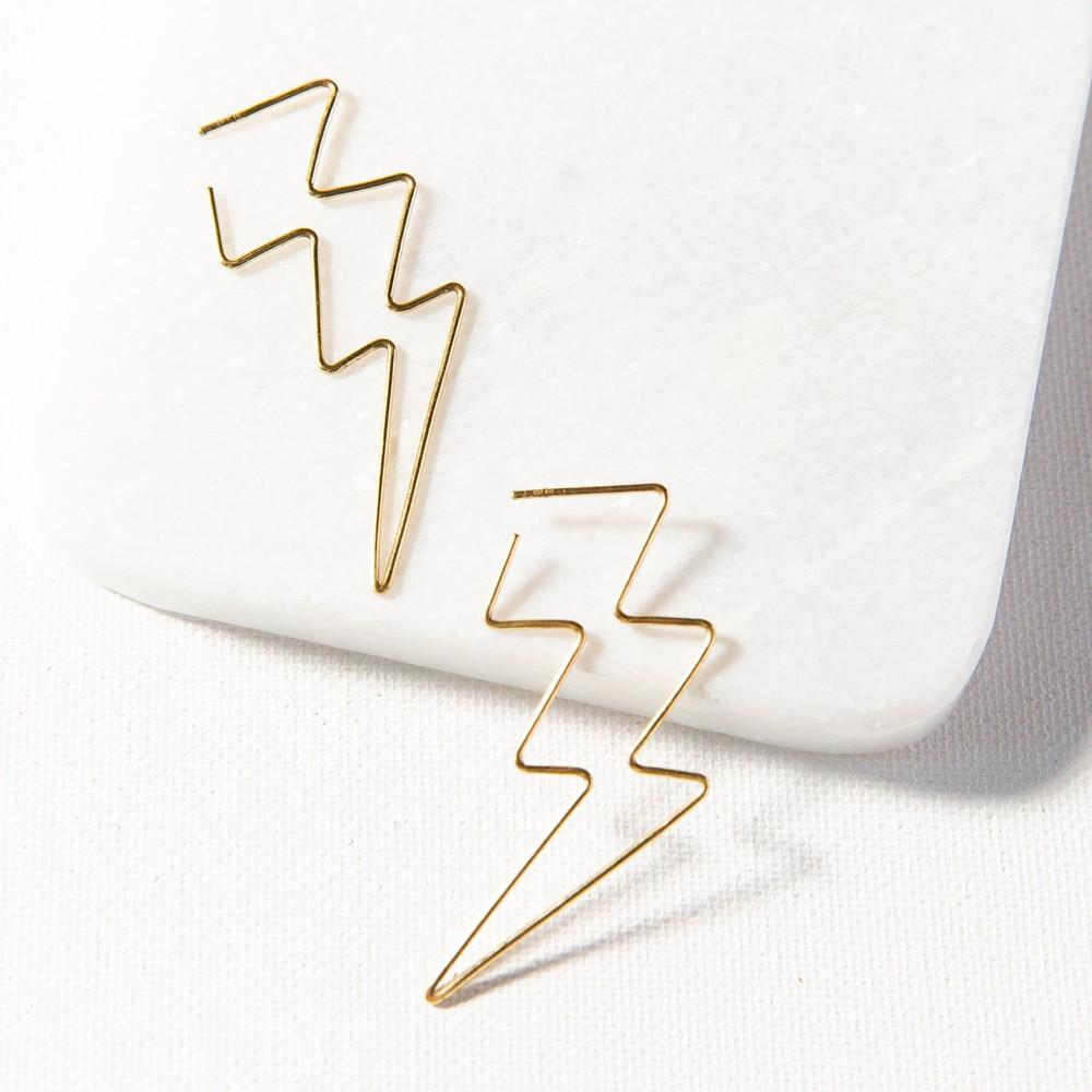 Wire Earring - Lightning Bolt
