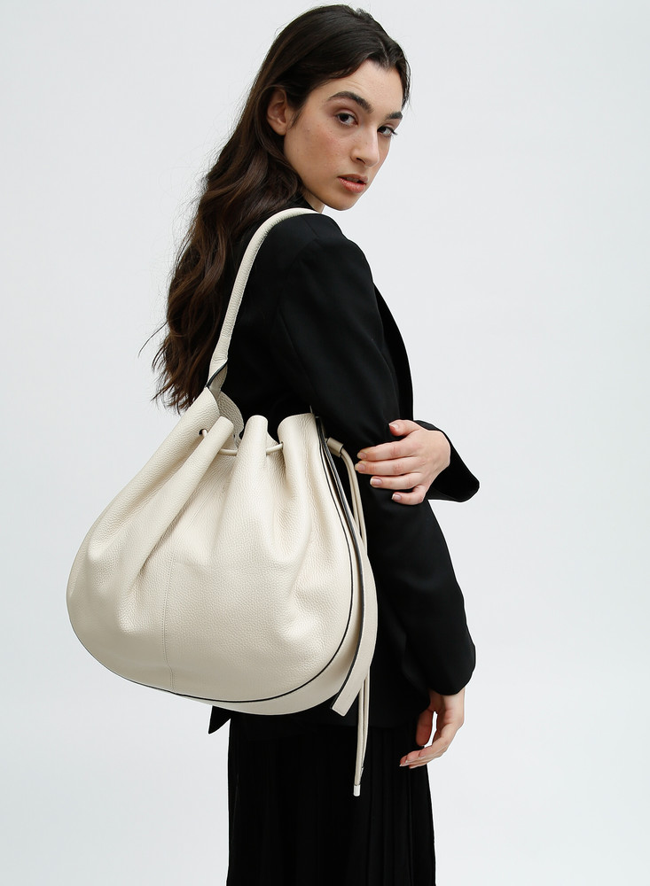 Ina Bag - Large - Pebble Bone