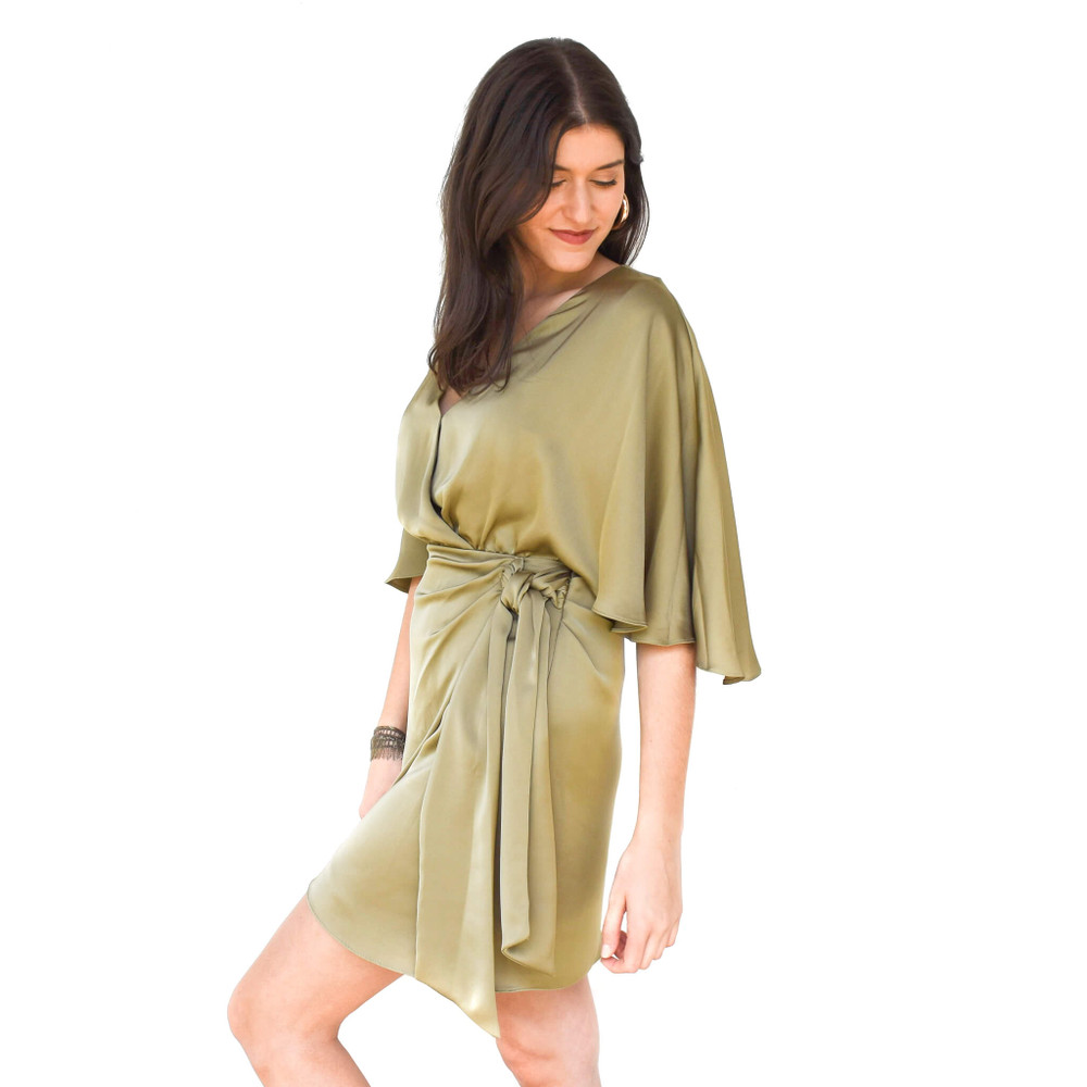 Alexis Wrap Mini Dress