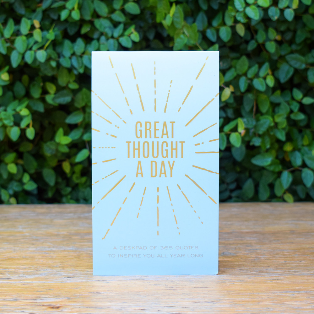 "A previous Oprah's favorite things pick- make Mom's notes and lists become instantly inspiring with this 4.5x8"" perfect-bound pad.  A page for everyday of the year, complete with an inspirational quote to inspire you throughout your day."