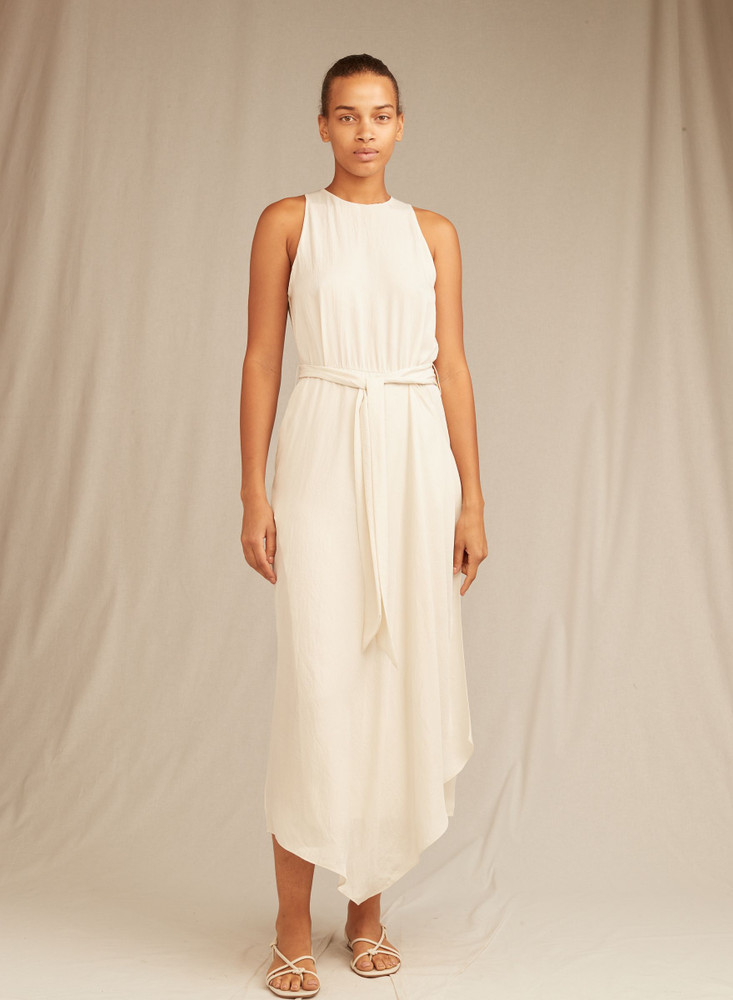 Handkerchief Drape Halter Dress