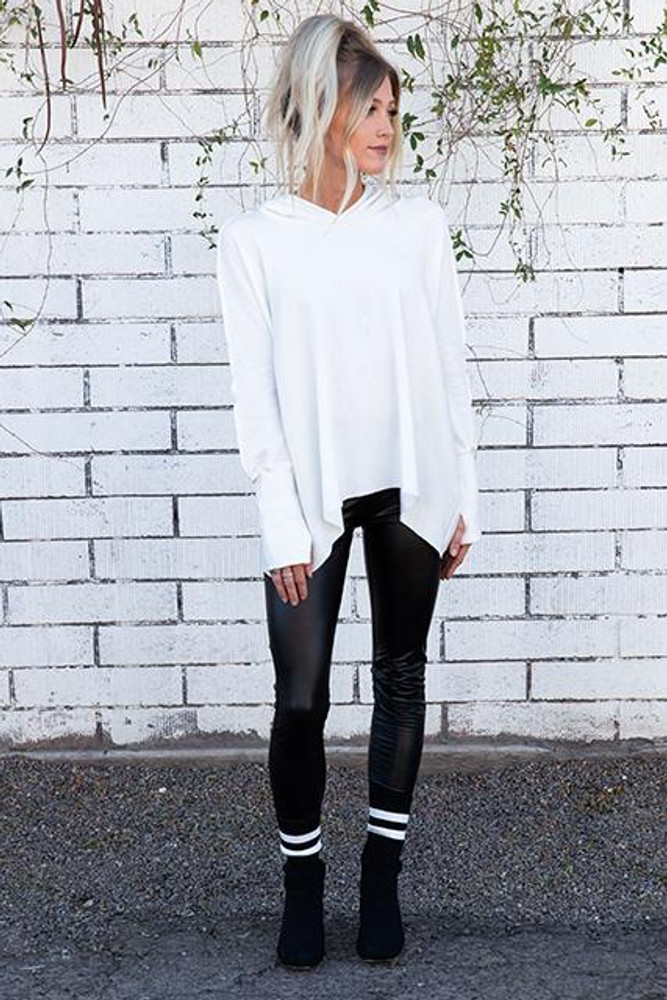 Oversized Sweatshirt with Lace Up Detail