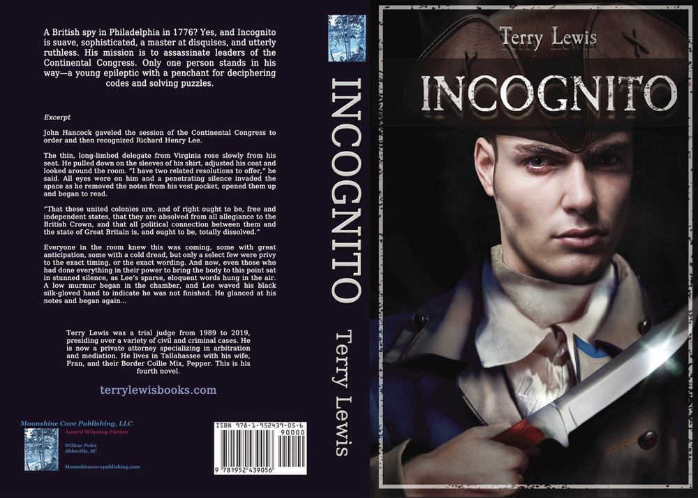 INCOGNITO'S MISSION IS TO ASSASSINATE LEADERS OF THE CONTINENTAL CONGRESS IN 1776.As the colonies begin to talk openly of political separation from England, a coded letter is deciphered. It suggests that an assassin, code name Incognito, is headed to Philadelphia to assassinate key leaders of the Continental Congress. The assassin may have co-conspirators in the city, and in the Congress itself.