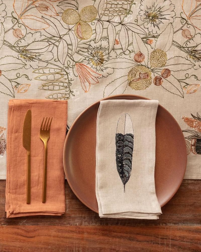 Embroidered Dinner Napkin