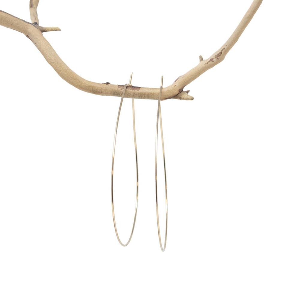 Kim Hoop Earrings - Gold