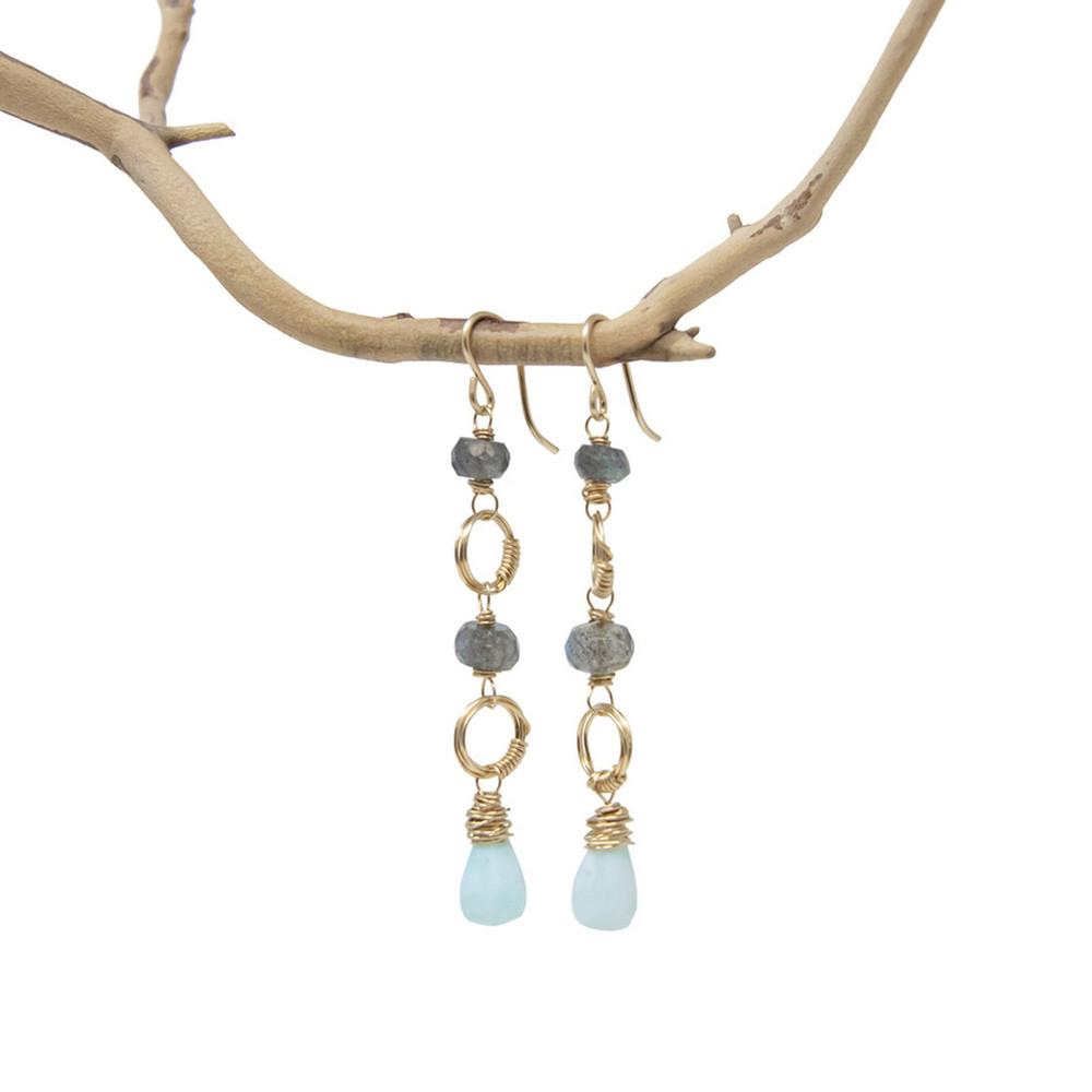 Eleanor Drop Earrings - Opal
