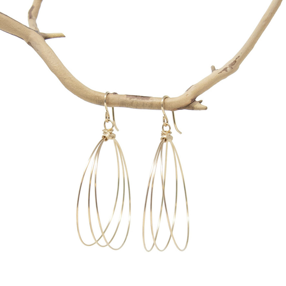 Holly Triple Hoop Earring - Large